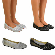 New Womens Cute Lace Bridal Ballet Flat Comfy Slip On Loafers Ballerina Shoes