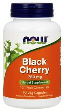 NOW Foods Black Cherry 750mg 10:1 Fruit Concentrate 90 or 180 Veg Capsules