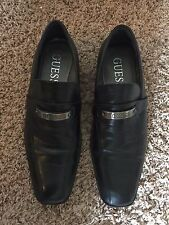 Men's Guess Black Leather Square Toe Slip-On Loafer Casual Dress Shoes Size 10