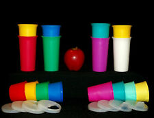 Tupperware NLA 10 oz Bell Tumblers color CHOICE + Bonus Sippy or Snack Cups