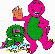 """6-9.5"""" BARNEY BABY BOP WALL SAFE STICKER CHARACTER BORDER CUT OUT"""