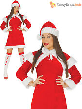 Ladies Mrs Santa Claus Costume Adults Christmas Fancy Dress Womens Xmas Outfit