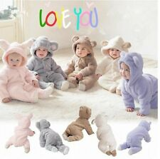 Newborn Baby Infant Boy Girl Romper Hooded Jumpsuit Bodysuit Outfits Clothes New