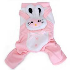 Pink Pet Dog Rabbit Overall JumpSuit Clothes Apparel Coat Clothing Size S/M/L/XL