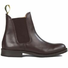 TUFFA POLO CHILDRENS JODHPUR BOOTS BROWN leather hard wearing riding boot