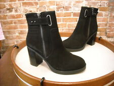 Sole Society Jessy Black Leather High Heel Ankle Boot NEW