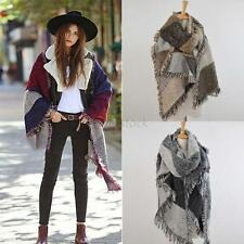Women's Thick Large Long Cashmere Stole Scarves Winter Warm Scarf Shawl Wraps UK
