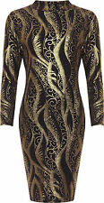 Womens Plus Glitter Party Dress Ladies Turtle High Neck Long Sleeve Sparkle Top