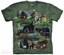 Bear Collage The Mountain Adult Size T-Shirt
