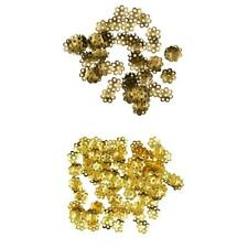 100pcs 8mm Gold and Bronze Daisy Spacer Beads Caps Jewellery Making DIY