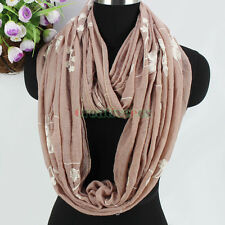 Fashion Women's Embroidery Floral Soft Long Scarf Wrap Shawl/Infinity Scarf New