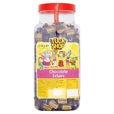 TUCK SHOP CHOCOLATE ECLAIRS 2.5KG JAR OF SWEETS KIDS CHEWS THANK YOU PRESENT