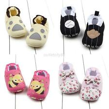 0-12M Newborn Baby Kid Girls Infant Toddler Soft Sole Shoes Slip-On Crib Shoes
