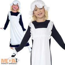 Poor Victorian Girls Fancy Dress Lower Class Maid Book Day Childs Kids Costume