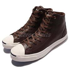Converse Jack Purcell Jack Mid Leather Brown White Men Casual Shoes 154150C