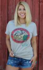 Original Cowgirl Amarillo Barrel Racing Racer Premium Cotton Top Rodeo Shirt