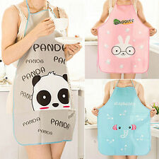HOT Women Cute Cartoon Waterproof Apron Kitchen Restaurant Cooking Apron EF