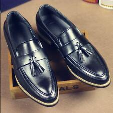 Mens pointy toe Brogue oxford Dress formal Shoes tassel slip on loafer casual