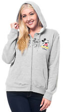 Disney Mickey Mouse Sketch Gray Zipup Hoodie Jacket