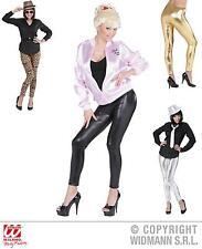 Leggings black, gold, silver, Leopard LEATHER LOOK Ladies S/36 + M/38 013
