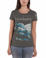 Harry Potter T Shirt Hogwarts Express new Official Womens Skinny Fit Black