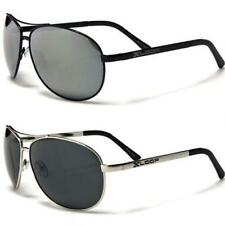 Mens XLOOP Polarized Mirrored Sunglasses Aviator Black UV400 PZ586 New
