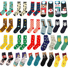 CHIC Casual Cotton Socks Design Multi-Color Fashion Dress Men's Women's Socks