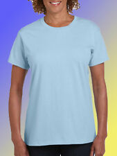NEW BLANK PLAIN TSHIRT - Blue - Ladies size 8 and 12 - 100% Cotton