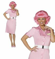 Frenchy Official Grease Fancy Dress Costume Pink Women 1950s 50s School Drop Out