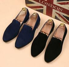 New Men's Casual Formal Dress Slip On suede Leather Shoes Pointed Loafer Hot SZ