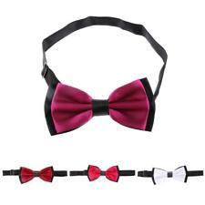 Men Satin Novelty Bow Tie Adjustable Pre-Tied Jacquard Dickie Bowtie