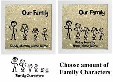 Vinyl Sticker DIY Box Frame STICK FIGURE FAMILY  Our Family Personalised Sticker