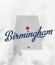 Birmingham, Alabama AL MAP Souvenir T Shirt All Sizes & Colors