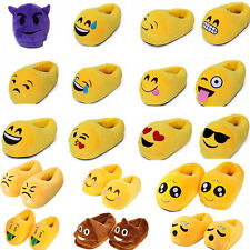 Lady Emoji Plush Stuffed Slippers Womens Girls Winter Thermal Warm Shoes Boots
