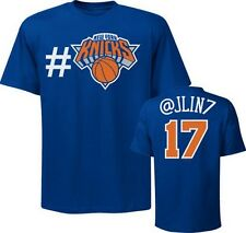 Jeremy Lin New York Knicks Twitter # Hash Tag player t-shirt NBA NWT