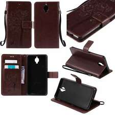 Luxury PU Leather Wallet Stand Case Cover For APPLE SAMSUNG Phones Dark Brown