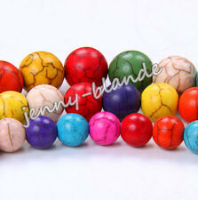 Natural Round Mixed Turquoise Gemstone Spacer Loose Bead Charm Finding4/6/8/10mm