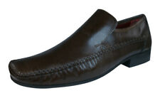 Red Tape Whittle Mens Leather Slip On Loafers / Shoes - brown