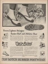 1918 Tennis Shoes Basketball Top Notch Beacon Falls Rubber Shoe Co CT print Ad