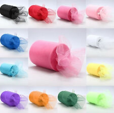 "25YD*6"" Roll Spool Tutu Tulle Wedding Party Gift Wrap Fabric Craft Decorations"
