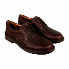 Clarks Kyros Plain Mens Brown Leather Casual Dress Lace Up Oxfords Shoes