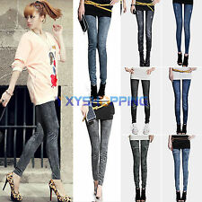 Women's Leggings Jeans Denim Look Jeggings Skinny Slim Stretchy Pants Trousers