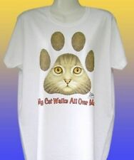 NEW FUNNY CAT TSHIRT - My cat walks all over me!