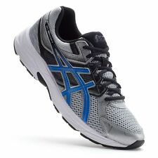 NIB MENS ASICS GEL CONTEND 3 RUNNING SHOES SILVER/BLUE NEW SIZE 9, 9.5, 10, 10.5