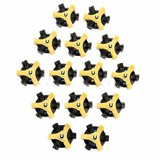 Environmental Black & Yellow TPR Fast Twist /Tri Lok Stinger Spikes Fits Footjoy