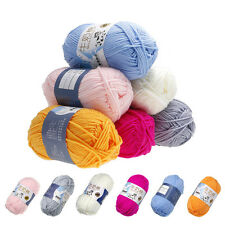 50g Soft Milk Cotton Chunky Hand-woven 6 Colors Knitting Wool Sweater Scarf Yarn