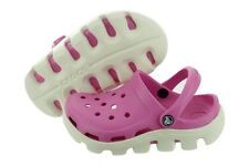 Crocs 11992-6FJ Duet Sport Clog Kids Pink Slip Sandals Wide Infant / Toddler