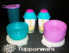 Salad Blaster + Tupperware Bowls CHOICE ~3 AQUA #1842 ~4 ORCHID Microwave Cereal