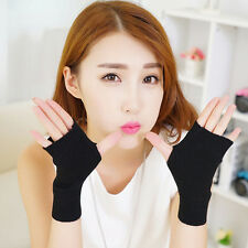 Winter Wool Mitt Gloves Soft Warmer Knitted Gloves Women Men Fingerless Mittens