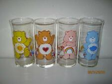 FOUR {4} CARE BEARS 1983 PIZZA HUT ADVERTISING DRINKING GLASSES #2